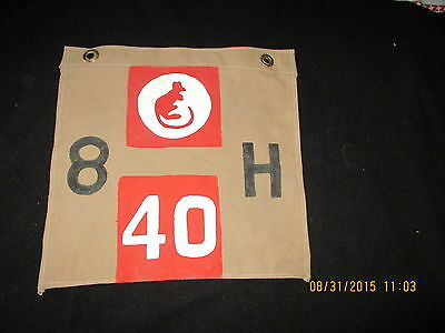 Wwii British 7Th Armoured Div 8 Th Hussars  Desert Rats Hq Vehicle Cp Flag