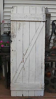 Vintage Rustic 74in Wooden Barn Door with Handle