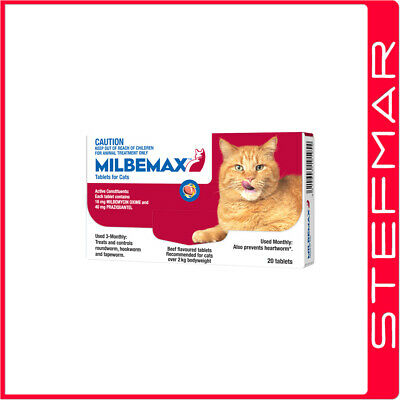 Milbemax Allwormer For Cats 2-8kg 20 Tablets