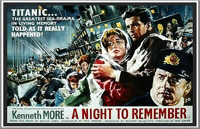 A Night to Remember, 1958 repro Movie Poster - Titanic