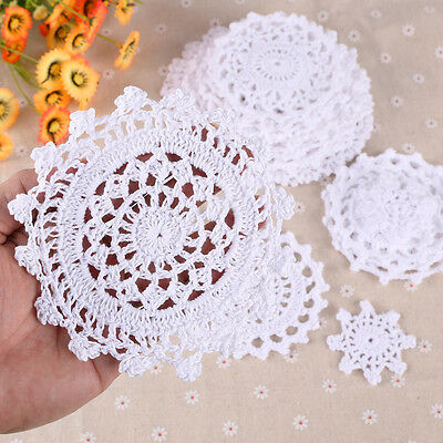 24 x Vintage Bulk Lace Linen Cotton Crochet Doilies Motifs Home Table Décor AU