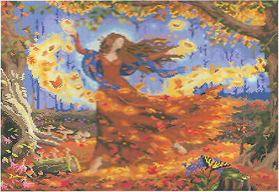 Diamond Painting-Diamant Stickerei/Malerei Diamant Bild Herbstzauber 56 x 48 cm