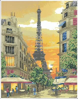 Diamond Painting-Diamant Stickerei/Malerei Diamant Bild Paris  35 x 45 cm