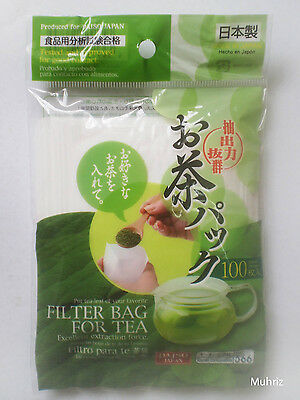 Daiso Japan Premium FILTER TEA BAG Black Green Matcha Herbal Coffee 100pcs