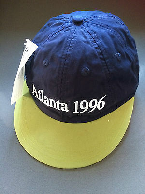 Official Adidas Atlanta Olympics 1996 Baseball Cap Blue Green Adjustable Strap