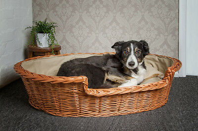 Medium Large II Dog Bed Basket with Cushion FREE DELIVERY