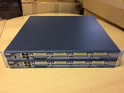 x2 CISCO2801 ROUTER - BUNDLE 2 routers and brackets power leads 45 DAY WARRANTY