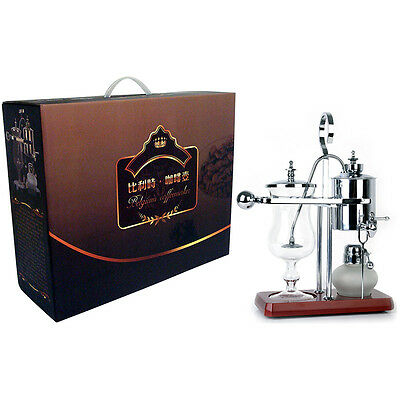 Belgium Luxury Royal Family Siphon/Syphon Balance Coffee Maker Silver GY-S-4