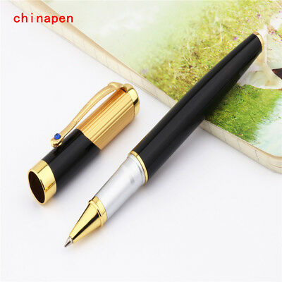 JINHAO 9009 Gold hat black Business office Medium nib Rollerball Pen New