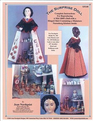 "Jean Nordquist's 20"" REPRODUCTION SURPRISE DOLL complete instructions to make"