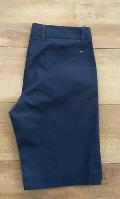 Genuine Tommy Hilfiger Arielle Bermuda Womens Golf Shorts Navy - Size UK 8