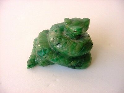 Antique Chinese Jade Carved Snake Netsuke