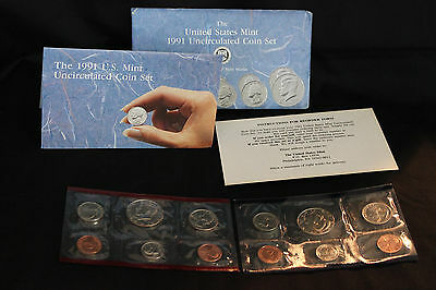 1991 United States Mint US Mint P & D Uncirculated Coin Set