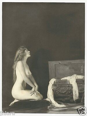 Rare Hand Tinted Deco Nude Barbara Deane Alfred C Johnston Silver Gelatin Photo