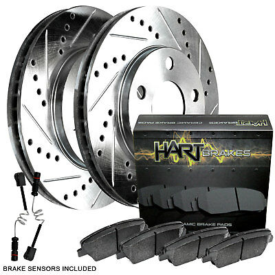 FRONT DRILLED SLOTTED BRAKE ROTORS /& CERAMIC Pads For 1994-1999 Toyota Celica