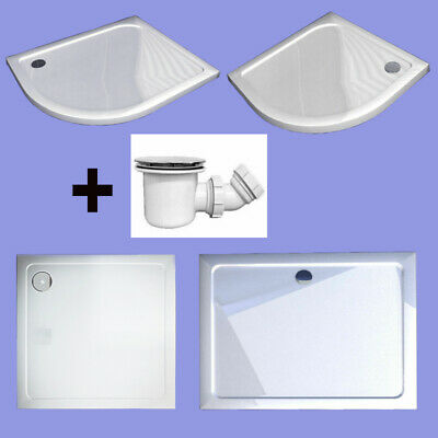 Quadrant/square/rectangle stone tray for shower enclosure glass door Free Waste