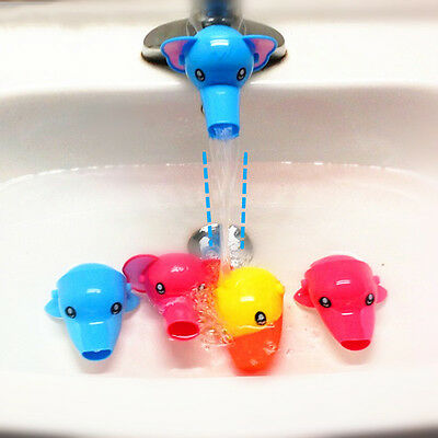 Bathroom Sink Faucet Extender Cute animal Shape For Kids Children Washing Hands