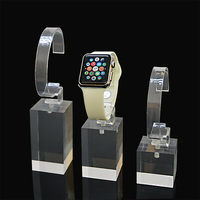 5pcs Clear Acrylic Watch Stand Display Holder Smart Watch Retail Support Shelf