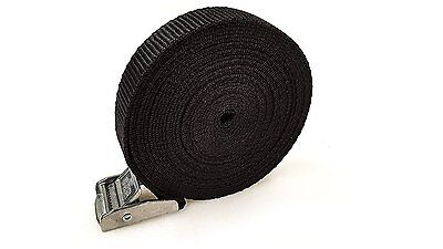 25 Buckled Straps 25mm Cam Buckle 5 meters Long Heavy Duty Load Securing 250kg