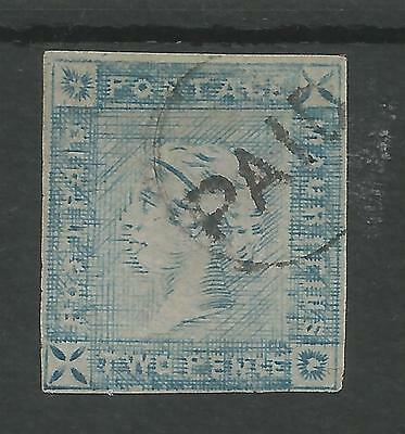 MAURITIUS  THE 1859 LAPIROT 2d BLUE FINE USED 4 MARGINS LOVELY EXAMPLE