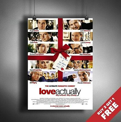 LOVE ACTUALLY 2003 MOVIE POSTER A3 A4 * Classic Romantic Drama Comedy Film Print