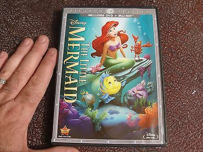 The Little Mermaid (Blu-ray/DVD, 2013, 2-Disc Set, Diamond Edition; DISNEY kids