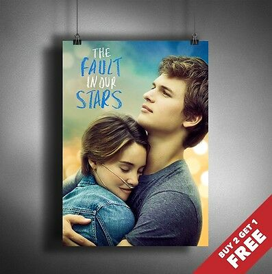 THE FAULT IN OUR STARS 2014 MOVIE POSTER A3 A4* New Romance Drama Wall Art Print