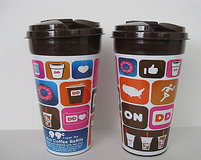 Lot 2 x 16 oz Dunkin Donuts Plastic Refill Cups Blair Bedford Counties, PA