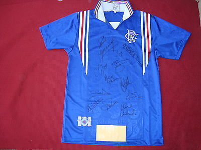 Glasgow Rangers *12* Personally Signed 9 Titles In A Row Shirt- New- Photo Proof