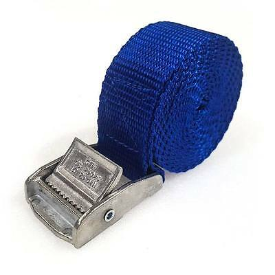 6 Buckled Straps 25mm Cam Buckle 1.5 meters Long Heavy Duty Load Securing Blue