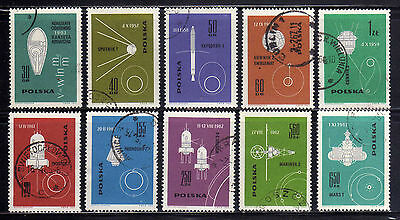 POLONIA/POLAND 1963 USED SC.1178/1187 Conquest of Space