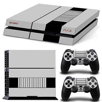 Ps4 Autocollant Peau Vinyl Playstation 4 Film Protection Console Skin Nintendo