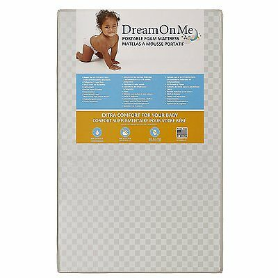 Dream On Me 3 Portable Crib Mattress, White by Dream On Me (24) FREE SHIPPING
