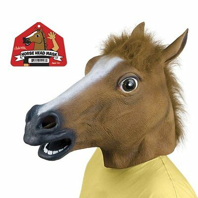 Cosplay Halloween Horse Head Mask Animal Party Costume Ball Prop Masquerade Toy