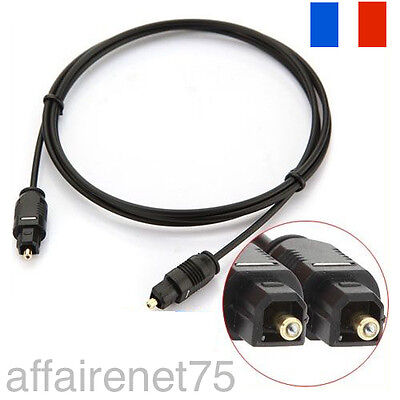 Cable Digital Fibre Optique Audio Toslink SPDIF MD DVD OR GOLD Plug
