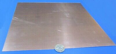 "110 Copper Sheet 1/2 Hard H02  .062"" Thick x 12.0"" Wide x 12.0""  Length"