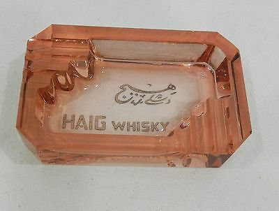 * Rare Cendrier Pub Whisky Haig - Advertising Ashtray : Alexandria Sporting Club