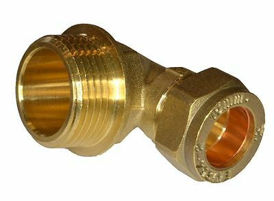 """15mm Compression x 3/4"""" BSP Male Elbow 