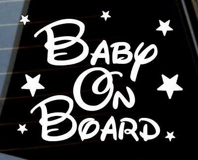 Baby on Board stars boy girl unisex car window bumper bike sticker VW jdm DUB