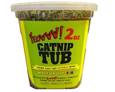 YEOWWW! CATNIP TUBS – 2OZ  Organically Grown Direct from Manufacture