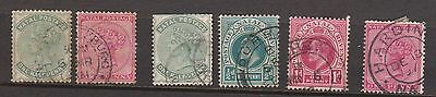 (Q15-133) 1874 -1902 Natal mix of 6 ½d to 1d used