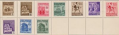 (Q15-18) 1954 Italy mix of 10 5c to 3L Sociala republic MH