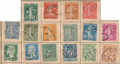 (Q15-194) 1906-65 France mix of 65stamps 5c to 90c mint& used