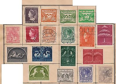 (Q15-200) 1872-1950 Netherlands 36mix of stamps ½c to 60c mint &used