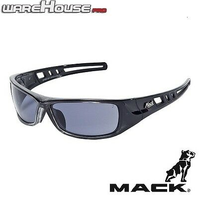 Brand New MACK B DOUBLE BLACK POLARISED SAFETY / SUN GLASSES 1, 3 or 8 Pack