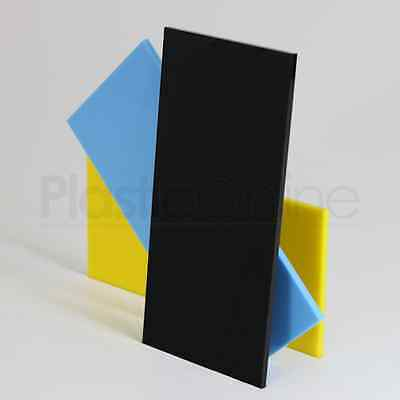 Black XT Colour Perspex Acrylic Sheet Plastic Material Panel Cut to Size 3mm
