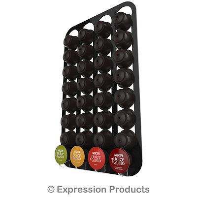 Dolce Gusto coffee capsule pod holder, wall mounted rack, holds 16-96 capsules