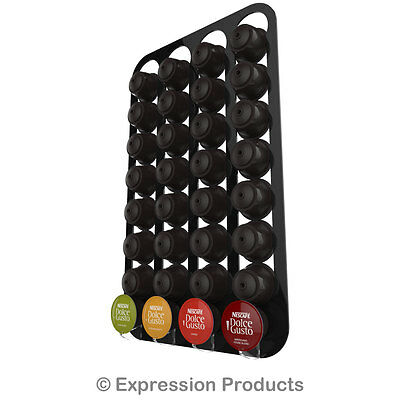 Wall Mounted Dolce Gusto coffee capsule pod holder,  holds 16-96 capsules