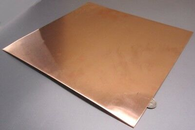 """110 Copper Sheet Soft Annealed  .043"""" Thick x 12.0"""" Wide x 12.0""""  Length"""
