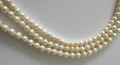 IVORY WHITE ROUND NATURAL FRESHWATER PEARL GEMSTONE BEADS 6/7mm, 7/8mm and 8/9mm